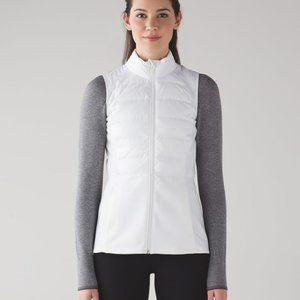Lululemon Huddle Down for a Run White Vest 4